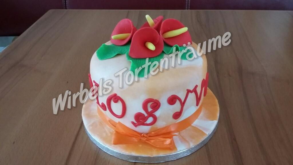 Hochzeitstags torte für freunde von dominique - Herzlich